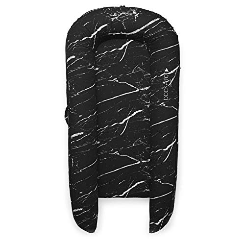DockATot Grand Dock (Black Marble) - Perfect for Cuddling, Lounging and Co Sleeping. Lightweight for Easy Travel - Suitable from 9-36 Months