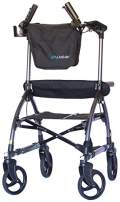UPWalker Plus - Original Upright Walker Size Standard + Bonus Flashlight (Stand Up Rolling Mobility Walking Aid with Seat)