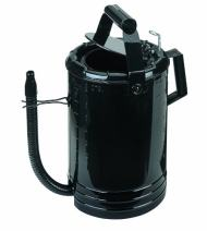 Lumax LX-1534 Black 4 Quart Flow Control Measure Can with Flex Spout. Designed for One-Hand Operation. Thumb Operated Valve Controls The Flow. Flip-Action Locks Valve Open.