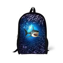 Cool Sea Shark School Backpack Book Bags for Boys Girls School