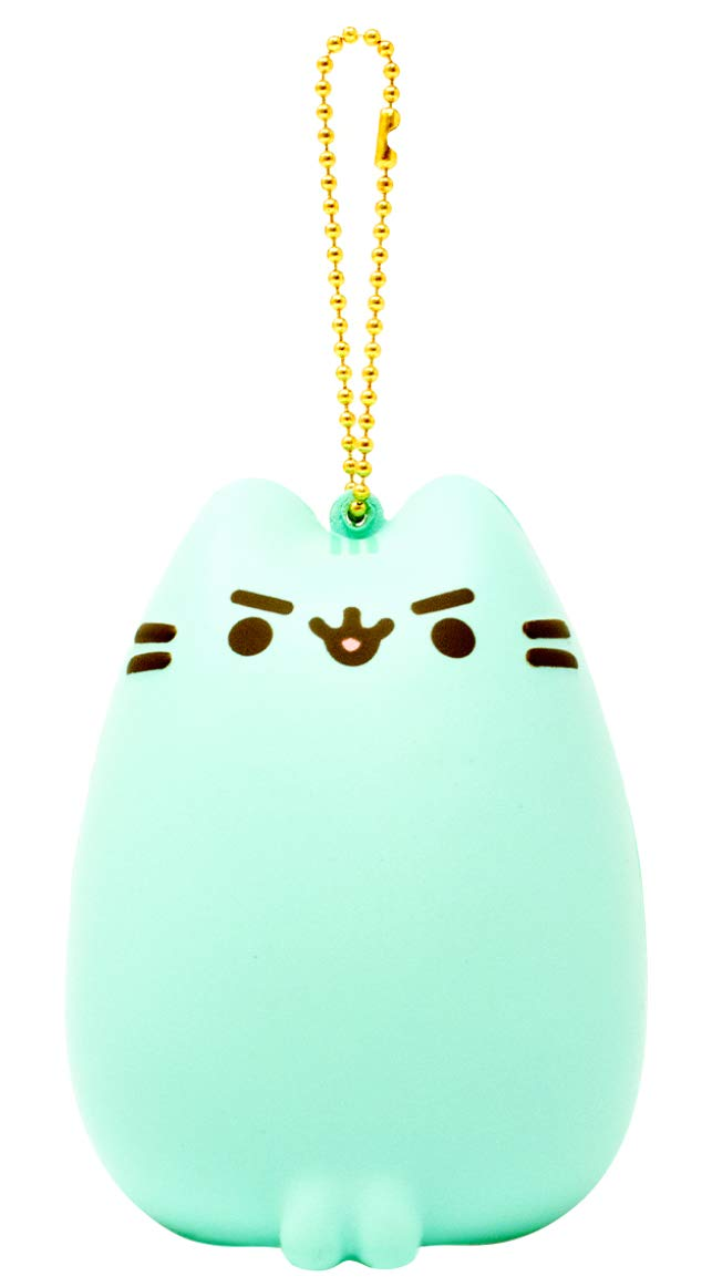 Hamee Pusheen Cat Slow Rising Squishy Toy [Full Body Series] (Mint Green, Pusheenosaurus, 3.5 Inch) [Birthday Gift Box, Party Favors, Gift Basket, Stress Relief Toys for Kids, Adults]