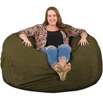 ULTIMATE SACK Bean Bag Chairs in Multiple Sizes and Colors: Giant Foam-Filled Furniture - Machine Washable Covers, Double Stitched Seams, Durable Inner Liner. (5000, Olive Suede)