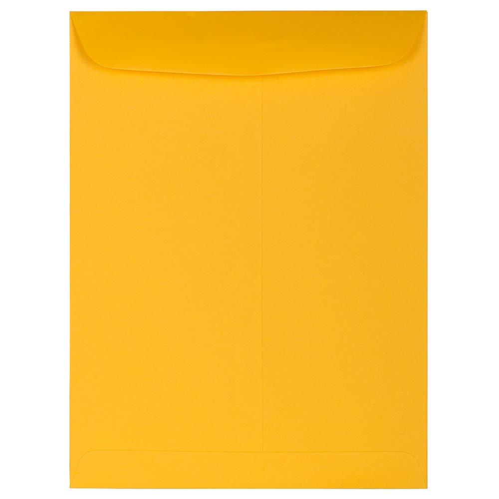 JAM PAPER 9 x 12 Open End Catalog Premium Envelopes - Sunflower Yellow - 100/Pack