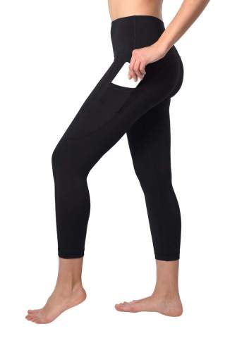 90 Degree By Reflex High Waist Squat Proof Yoga Capris with Side Pocket