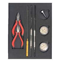 I-Tip Tool Kit by The Hair Shop, Opener and Closer for Installation and Removal, Wooden Loop Needle, 2 Pro Pulling Needles, 2 Random Colors Copper Tubes 500 pcs - Professional Hair Extension Tool Kit