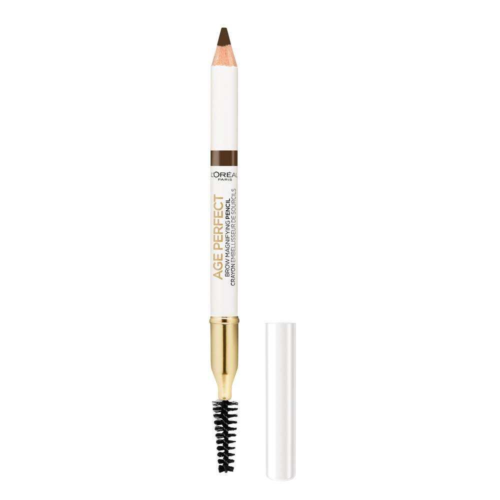 L'Oreal Paris Age Perfect Brow Magnifying Pencil with Vitamin E, Deep Brown