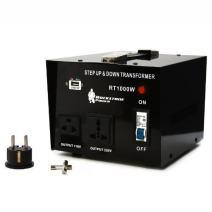 Rockstone Power 1000 Watt Voltage Converter Transformer - Heavy Duty Step Up/Down AC 110V/120V/220V/240V Power Converter - Circuit Breaker Protection – DC 5V USB Port - CE Certified [3-Year Warranty]