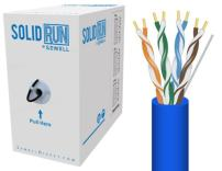 Sewell Direct SW-29875-252 SolidRun by Sewell Cat5e Bulk Cable, 250-Feet, Blue