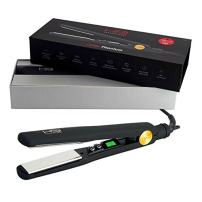 HSI Professional | The Glider Titanium Hairstyling Flat Iron | Tourmaline Ionic Hair Straightener| Straightens & Curls with Adjustable Temp | Incl Glove, Pouch, & Travel Size Argan Oil Hair Treatment