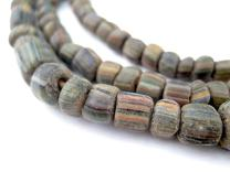 Java Gooseberry Beads - Full Strand of Striped Glass Beads - The Bead Chest (Ancient Stripe, 4mm)