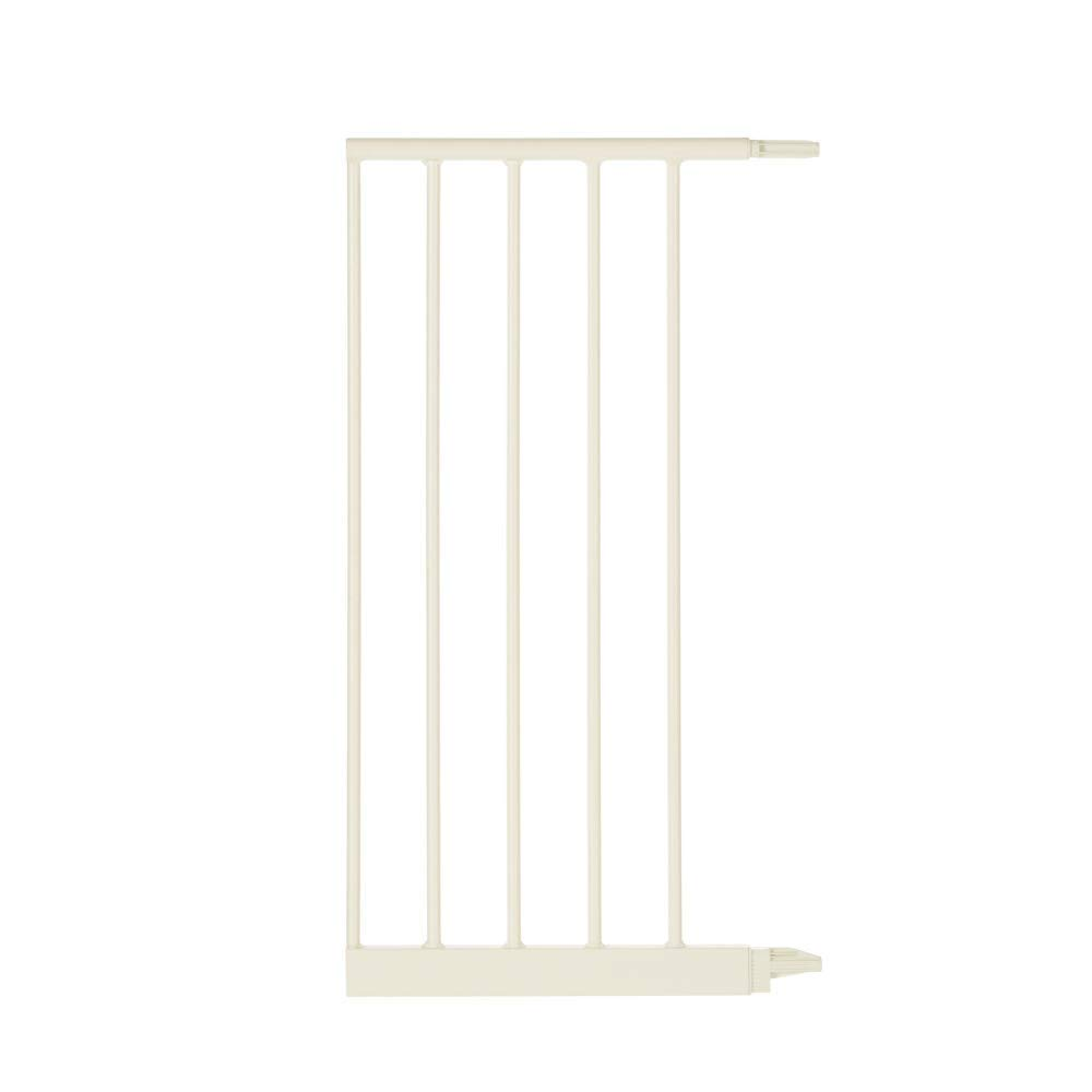 """Toddleroo by North States 5 Bar Extension for Wide Portico Arch Baby Gate: Adjust your gate to fit your space - up to 60.5"""" wide with extension. No tools required. (Adds 13.42"""" width, Soft White)"""