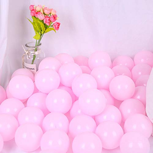 Bliss Brands Baby Toys Soft Plastic Play Balls, 100 Piece Single Color Set, Perfect for Ball Pits, Baby Playpens, Kids Parties (Pink, 100)
