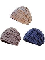 Zando Women's Soft Satin Lined Hat Pure Silk Night Sleeping Cap Hair Wrap Turban Hat Beanie Satin Bonnet