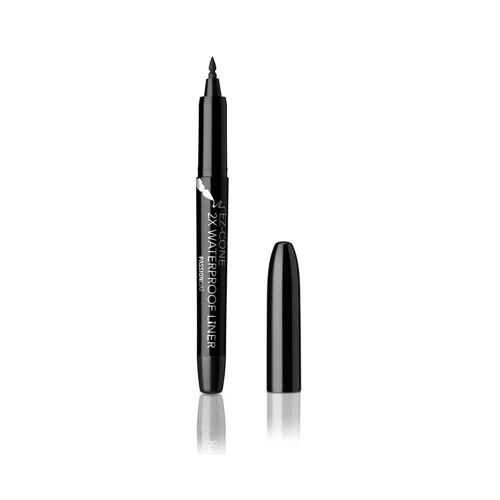 PASSIONCAT 2X WaterProof Pen Liner No.1 Black (Ez-Cone) - Ultra Slim Ink Liner Waterproof Liquid Eyeline Easy to Draw Long Lasting