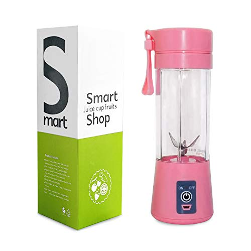 [Upgraded Version]Anais® Portable Blender Detachable 6 Blades in 3 for for Superb Mixing Blender Single Serve USB Rechargeable Juice Cups Fruit Mixing Machine 380ML(Pink)