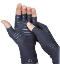 COPPER HEAL Arthritis Compression Gloves - Copper Glove for Rheumatoid Arthritis, Carpal Tunnel, RSI, Osteoarthritis & Tendonitis - Half Finger