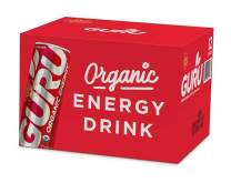 GURU Organic Natural Energy Drink with Green Tea & Guarana, 12 Ounce (Pack of 12), Gluten Free, Vegan …