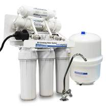Home RO + UV Disinfection Drinking Water Filter | Under the Counter | 6-Stage Reverse Osmosis Water Filter System | AMI WaterAnywhere | With Designer Faucet (50 GPD RO with Ultraviolet Disinfection)