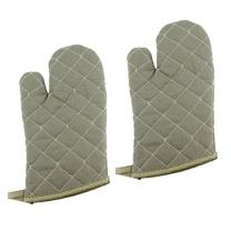 New Star Foodservice 32000 Commercial Grade Flame Retardant/Resistant Oven Mitts, up to 400F, 13-Inch, Set of 2
