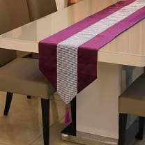 Zupro Multi-Size Elegant Tassels Sequined Rhinestone Contracted Classic Table Runners,for Dining Table,Tea Coffee Table Dresser Shoe Box 13x72 Inches(32 x180cm),Single Drainage Drill - Purple