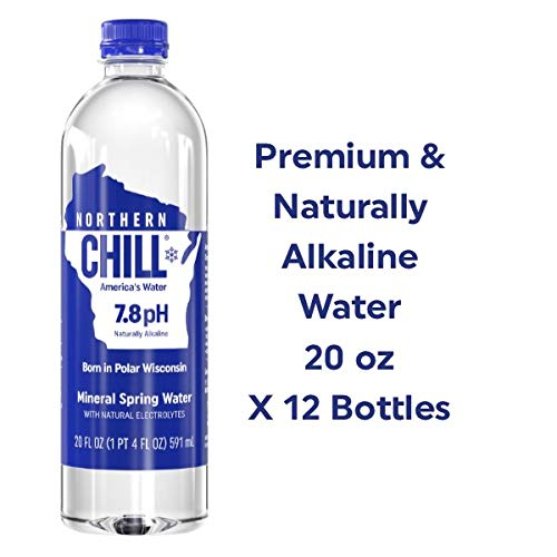 Northern Chill Premium & Naturally Alkaline Water, Naturally Filtered Minerals & Electrolytes, BPA Free Bottles, 20oz, 12 pack, This is America's Water