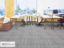 Commercial Carpet Tiles Stick Rug for Office Hotel Meeting Room Living Room Decor with Non-Slip Asphalt Bottom Backing Free Tapes 20x20inch,8823 Color,48tiles