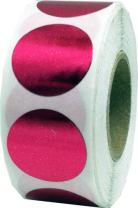 Metallic Rose Color Coding Labels for Organizing Inventory 0.75 Inch Round Circle Dots 500 Total Adhesive Stickers On A Roll
