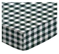 SheetWorld Fitted Crib / Toddler Sheet - Hunter Green Gingham Check - Made In USA