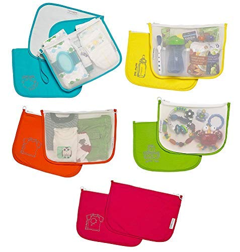 Diaper Bag Organizer Pouches by MOTHER LOAD Durable Nylon & Performance Mesh