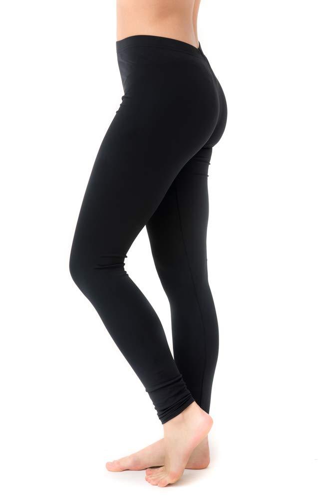 Undercover Waterwear Women's High Waisted Long Swim Leggings- UPF 50+ Athletic Leggings Cover Up – Plus