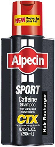 Alpecin CTX Sport, Caffeine and Biotin Shampoo, 8.45 fl oz, Hair Recharger for Increased Energy Demands and Physical Stress, Caffeine, Biotin and Nutrients Promote Natural Hair Growth