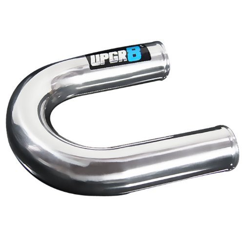 "Upgr8 Universal Outside Diameter Polished Aluminum Pipe (2.0""(51MM), 180 Degree)"