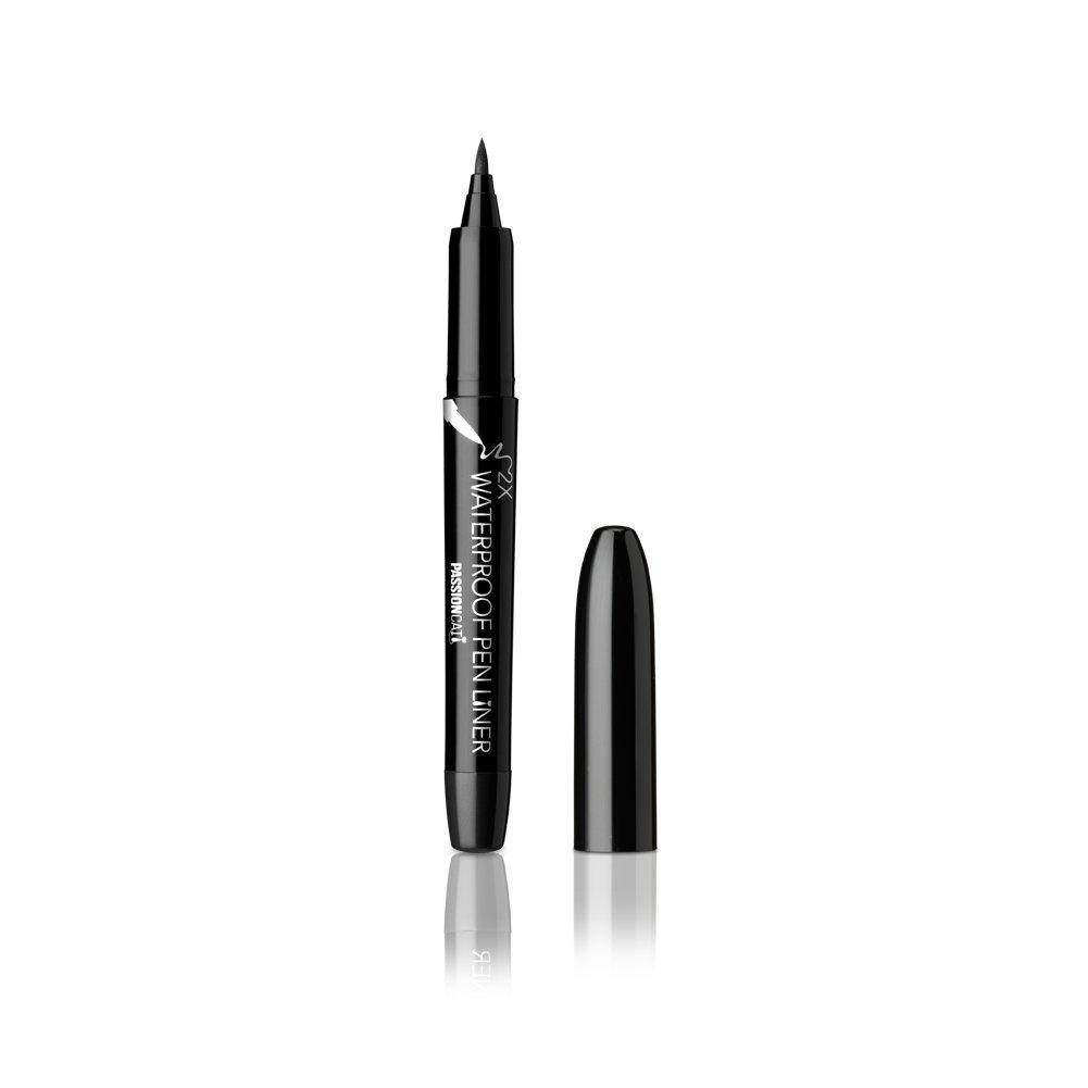 PASSIONCAT 2X WaterProof Pen Liner No.1 Black (Classic) - Ultra Slim Ink Liner Waterproof Liquid Eyeline Easy to Draw Long Lasting