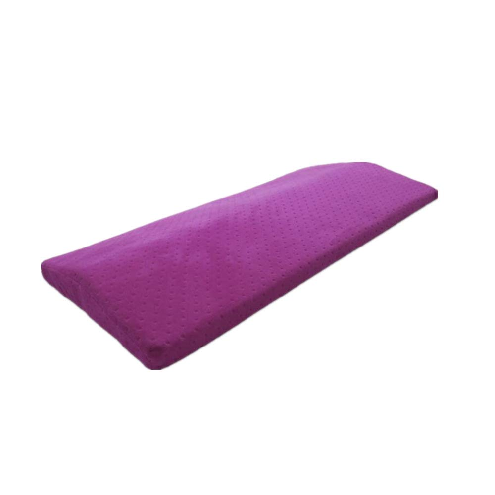 Ecloud Shop Sleeping Pillow Memory Foam Neck Pad Back Lumbar Support Cushion Multifunctional Pillow for Lower Back Pain Hip Knee and Joint Pain Relief (Purple)