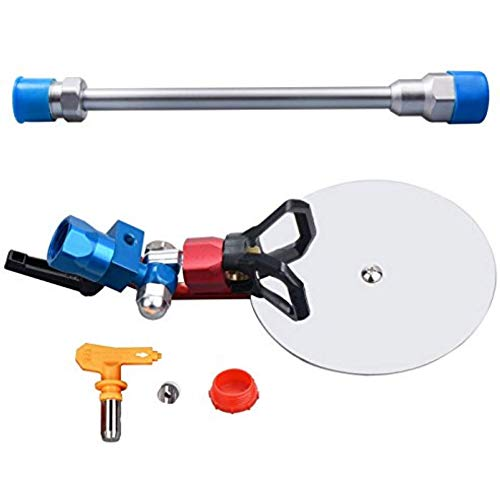 """JWGJW 120025 Spray Guide Accessory Tool for All Airless Paint Sprayer 7/8"""" w/ 517 Tip with 10 Inch Extension Pole"""