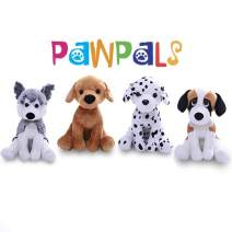 Plushland Stuffed Plush Dog Assortment – Collection of Labrador, Dalmatian, Husky and Beagle - Cute Dog Toys for Kids – 4 Pack – 8 inches.