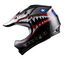 WOW Youth Kids Motocross BMX MX ATV Dirt Bike Moutain Helmet Shark Black