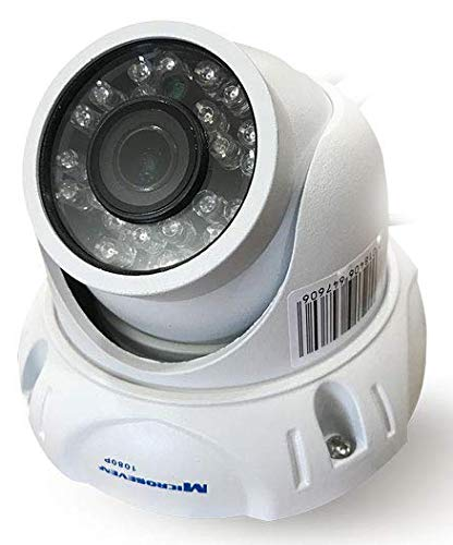 """Microseven 1080P/30fps HD 1/2.5"""" CMOS Wide View Angle 150° Compatible Alexa, POE Outdoor Dome IP Camera Outdoor, Web GUI, Apps + VMS, Free 24hr Cloud & Live Streaming microseven.tv"""