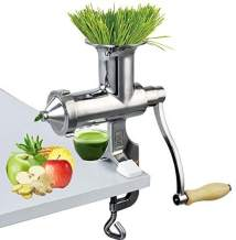 Happybuy Wheatgrass Extractor Portable Wheatgrass Juicer with 3 Sieves Wheatgrass Juicers Manual Stainless Steel Wheatgrass Extractor Machine for Wheat Grass Fruit Vegetable