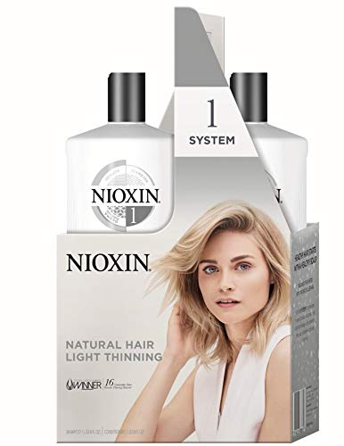 Nioxin Shampoo and Conditioner Liter Duo Packs, Cleanser Shampoo/Scalp Therapy Conditioner, 33.8 Ounce per bottle