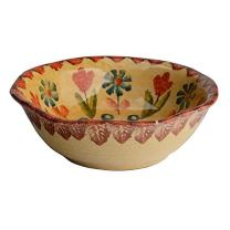 Festa Dinnerware – Soup Bowl w/Floral Art Design - Festive Dinnerware made of Italian Dinnerware Set of Flowery Hand Painted Ceramic
