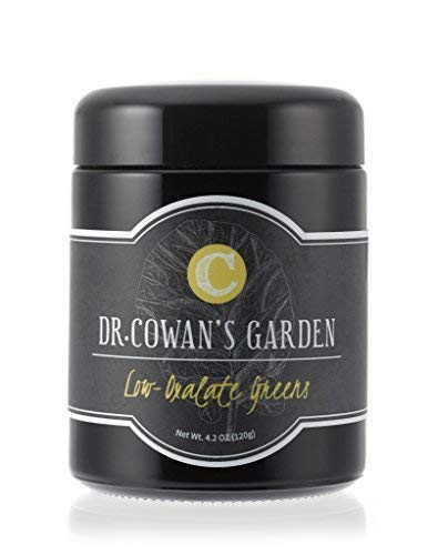 Dr. Cowan's Garden Low-Oxalate Greens Vegetable Powder, Made in the USA, 50 Servings