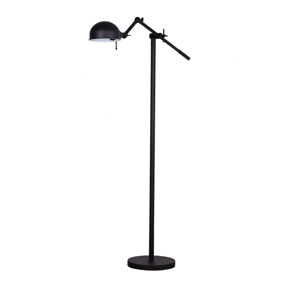 Amazon Brand – Stone & Beam Industrial Adjustable Pharmacy Living Room Floor Lamp with LED Light Bulb - 10 x 31 x 51 Inches, Oil-Rubbed Bronze