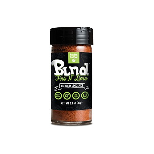 """Kitchen Crafted Blnd 100% Natural Non-GMO """"Fire N' Lime"""" Sriracha Lime Spice 2.1 oz, Gluten Free, Pack of 1"""
