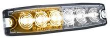 HELLA H22895051 Amber/White MST6 LED Lighthead, 12-24 V