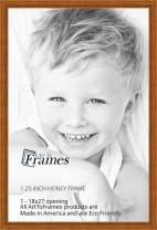 ArtToFrames 18x27 inch Honey stain Wood Picture Frame, 2WOM0066-81375-YHNY-18x27