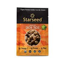 Starseed Organic Sacha Inchi seeds gluten-free, keto, and paleo friendly snack (Caramalized, 5 Serving Pouch)