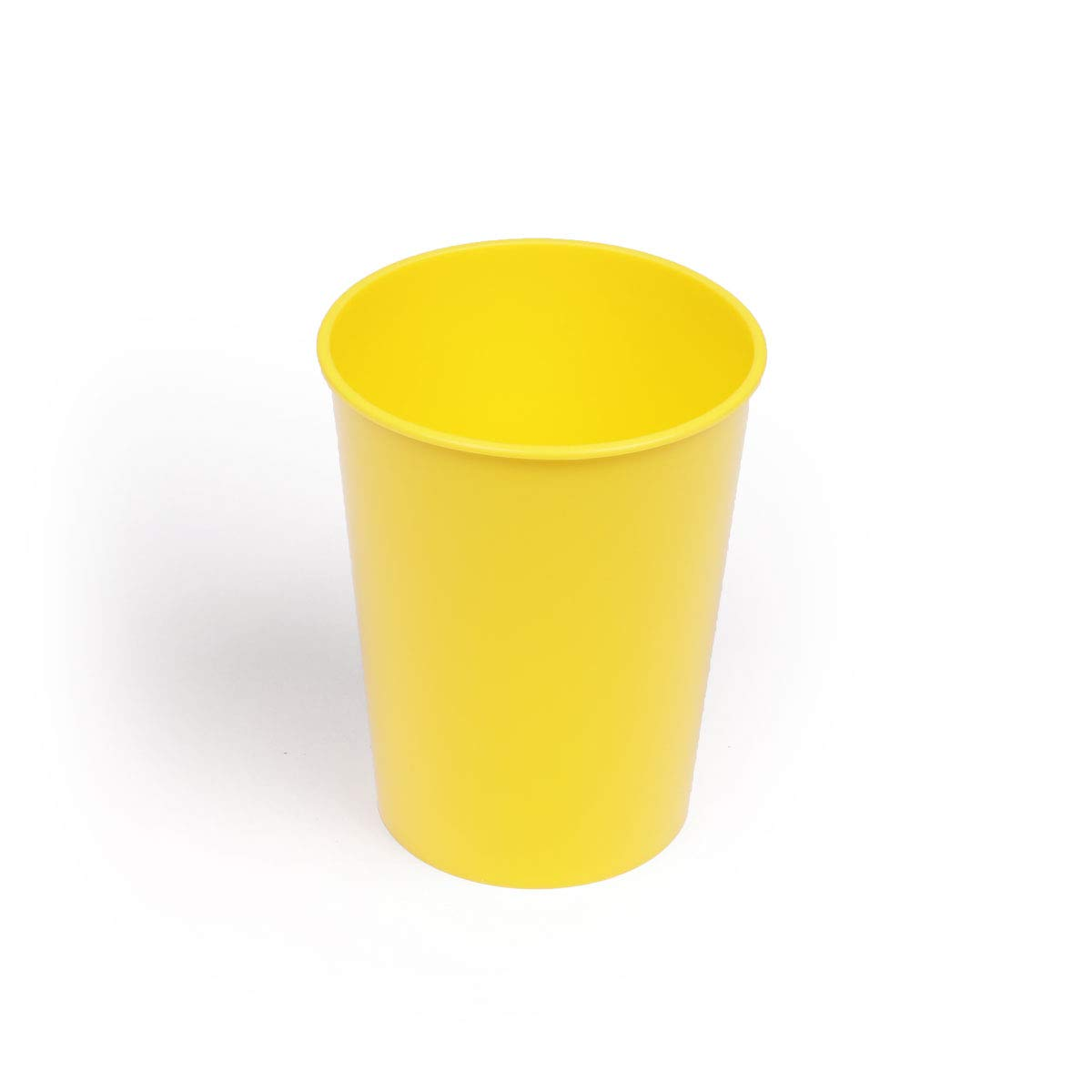 8 oz Break-Resistant Reusable Cup  In a Variety of Vibrant Colors (Yellow 12 Pack)