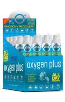 Oxygen Plus FDA-Registered Facility-Filled 99.5% Pure Recreational Oxygen Cans - O+ Skinni 24-Pack - Each Portable Oxygen Canister is 50+ Breaths, 3.42 litres - Restore Oxygen Levels w/Canned Oxygen