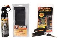 Combo Pack - Guard Alaska Bear Repellent with Belt Clip Holster & Pepper Defense Max Strength 10% OC Pepper Spray w/Hand Strap